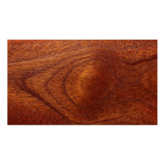 Mahogany Wood Grain Double-Sided Standard Business Cards (Pack Of 100)
