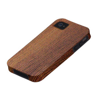 Mahogany Wood Grain iPhone 4 Cases