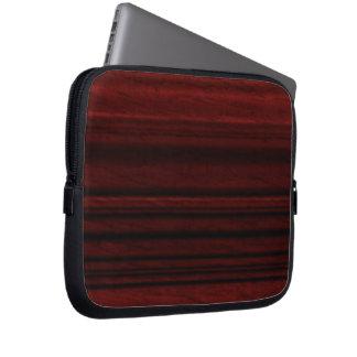 Mahogany Wood Grain Laptop Sleeve