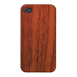 Mahogany Wood Print Cases For iPhone 4