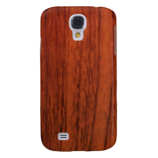 Mahogany Wood Print Galaxy S4 Case