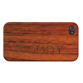 Mahogany Wood Print Name Template Cases For iPhone 4