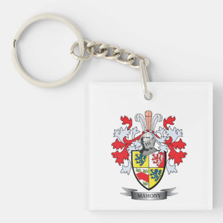 Mahony Coat of Arms Single-Sided Square Acrylic Key Ring