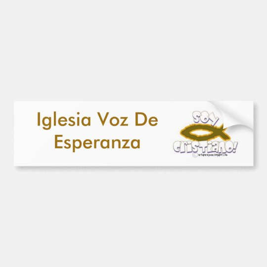 maHOu-arteparaJesus135, Iglesia Voz De Esperanza Bumper Sticker