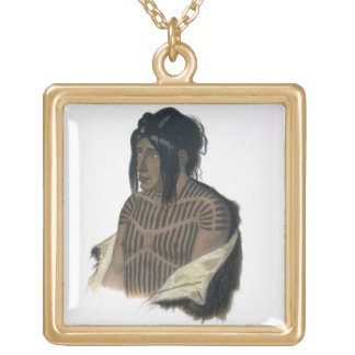 Mahsette-Kuiuab, Chief of the Cree Indians, plate Gold Plated Necklace