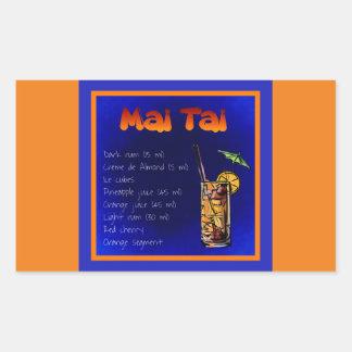 mai-tai-854531 MAI TAI RECIPE ALCOHOLIC BEVERAGES Rectangular Sticker