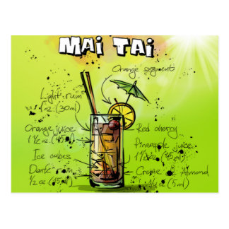 Mai Tai - Cocktail Gift Postcard