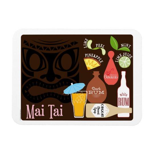 Mai Tai Tiki Bar Cocktail Rectangular Photo Magnet