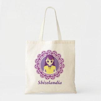 [Maid Café Series] Pastel Purple Maid #04 Budget Tote Bag