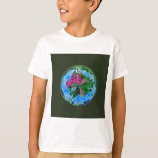 Maid in the mist in the globe T-Shirt