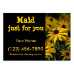 Maid just for you business cards