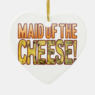 Maid Of Blue Cheese Ceramic Heart Decoration