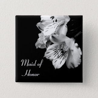 Maid of Honor Alstroemeria Lily Button