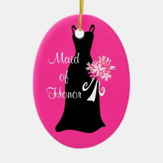 Maid of Honor Black Dress Ornament