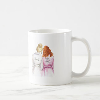 Maid of Honor? Blonde Bun Bride Red Curls Maid Coffee Mug