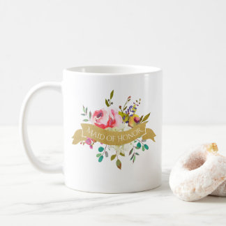 Maid of Honor Bouquet Coffee Mug