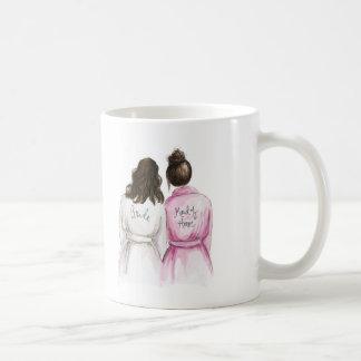 Maid of Honor? Br Wavy Bride Dk Br Bun Maid Coffee Mug