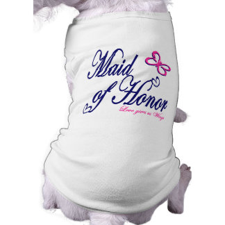 Maid of Honor / Butterfly Sleeveless Dog Shirt