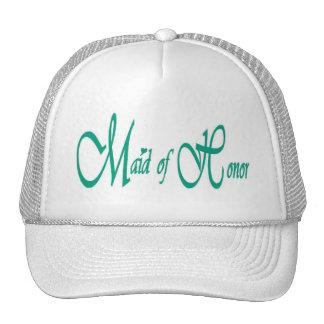 Maid of Honor Cap Mesh Hat