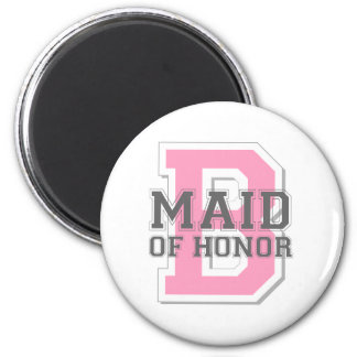 Maid of Honor Cheer 6 Cm Round Magnet
