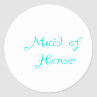 Maid of Honor Classic Round Sticker