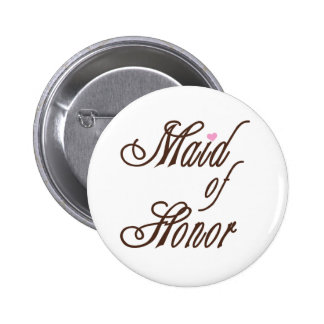 Maid of Honor Classy Browns 6 Cm Round Badge