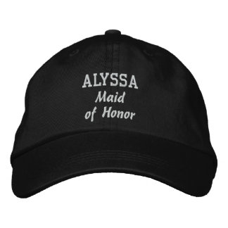 MAID OF HONOR Custom Name V02 Embroidered Hat