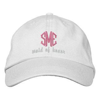 Maid of Honor Custom Wedding Monogram Baseball Cap