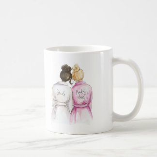 Maid of Honor? Dark Br Bun Bride Bl Bun Maid Coffee Mug
