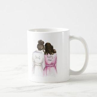 Maid of Honor? Dk Br Bun Bride Wavy Br Maid Coffee Mug