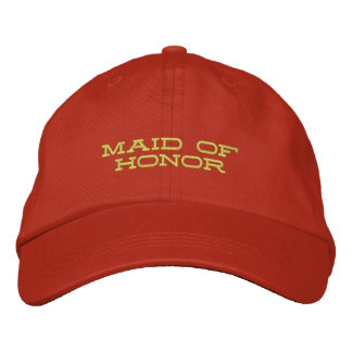 Maid of Honor Embroidered Baseball Caps