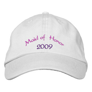 Maid of Honor Embroidered Hats