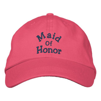 Maid Of Honor Embroidered Wedding Hat Embroidered Hats