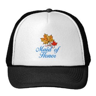 Maid of honor - fall cap