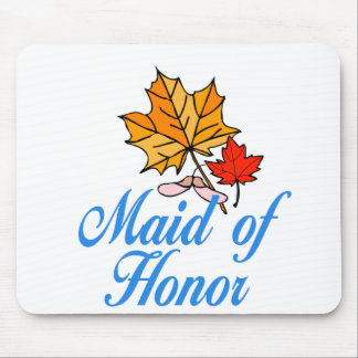 Maid of honor - fall mouse mats