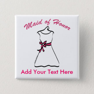 Maid of Honor Favors 15 Cm Square Badge