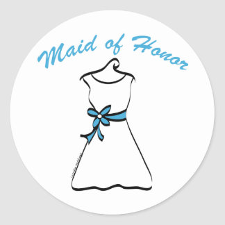 Maid of Honor Favors Round Sticker