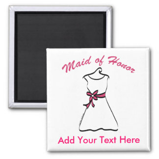 Maid of Honor Favors Square Magnet