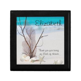 Maid of Honor Gift Box, Beach ,Shells,Sand Dollar Gift Box