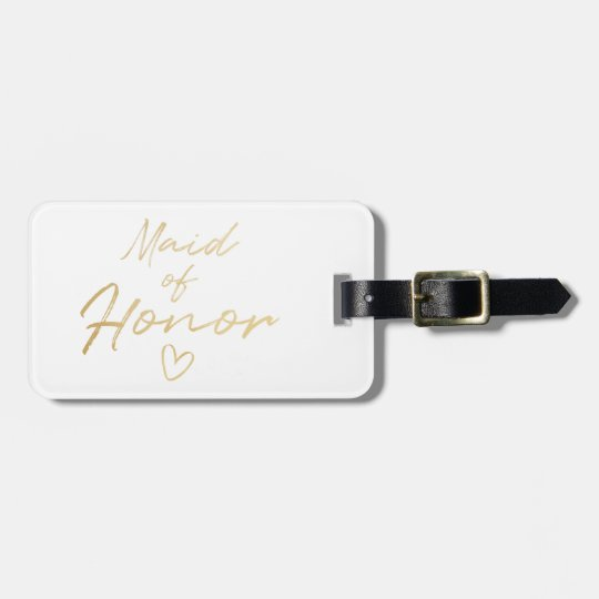 Maid of Honor - Gold faux foil Luggage