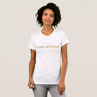 Maid of Honor Gold Glitter T-Shirt