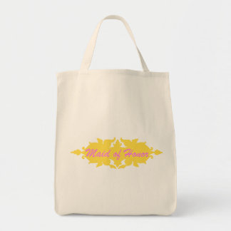 Maid of Honor Golden Yellow Vintage Style Banner Tote Bags