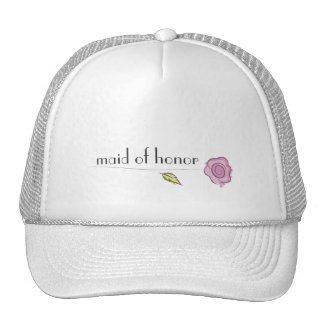 Maid of honor mesh hat