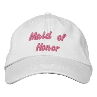 Maid of Honor Hat Embroidered Baseball Cap