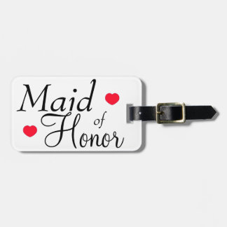 Maid of Honor Hearts Tag For Luggage