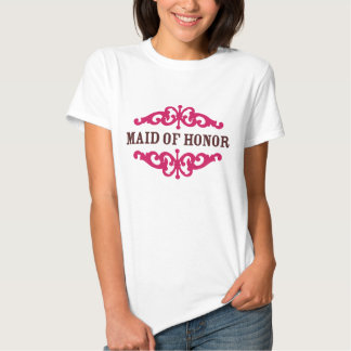 Maid of Honor (Hot Pink & Chocolate Brown) Shirt