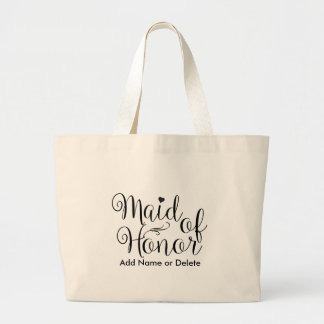 Maid of Honor Large Tote Canvas Tote Bag