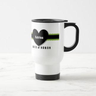MAID of HONOR Monogram Custom Name Colour D5 Stainless Steel Travel Mug