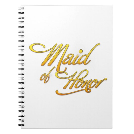 Maid Of Honor Notebooks