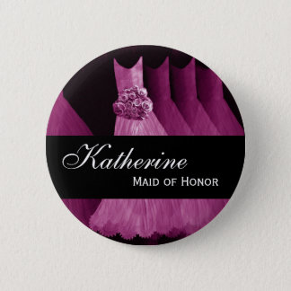 MAID OF HONOR Pin Button Bridesmaids Gowns